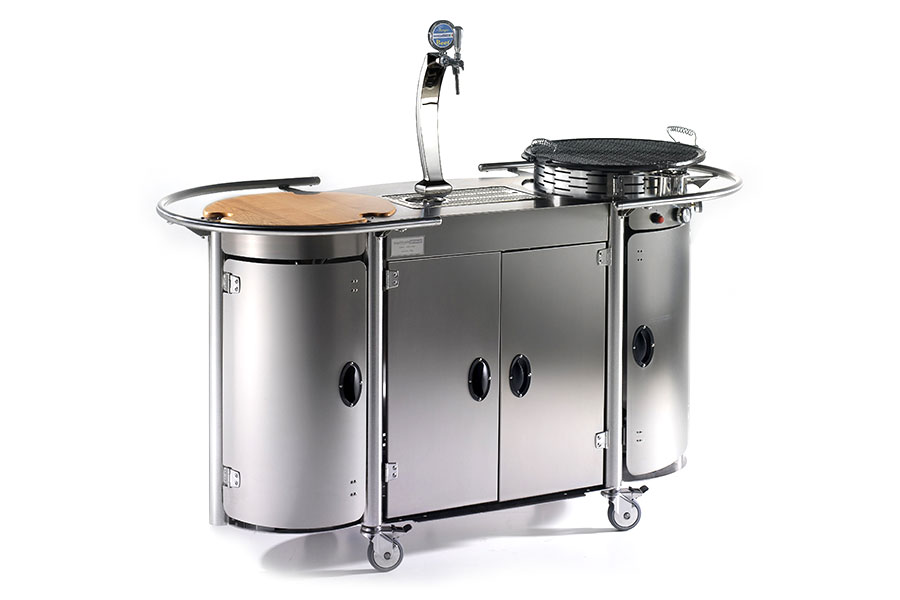 Mobile trasportabile con impianto di spillatura birra professionale Bongos Beer